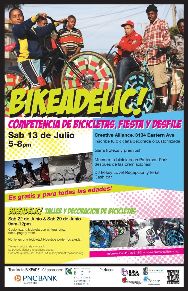 Bikeadelic PosterV3 Spanish