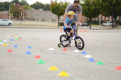 Riding the Bike Rodeo course