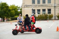 Taking the CoBi - Conference Bike - for a ride