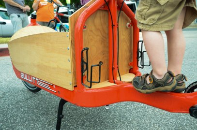 Little feet on a big Bullitt cargo bike